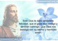 Solo Dios te dará felicidad