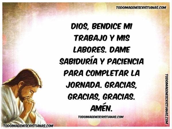 oracion cristiana para el trabajo