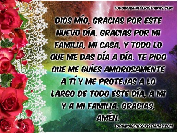 imagenes con oraciones cristianas para comenzar el dia