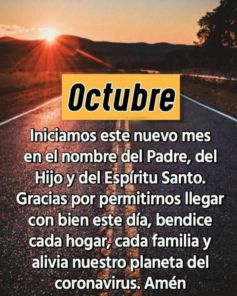 Imágenes cristianas bienvenido octubre
