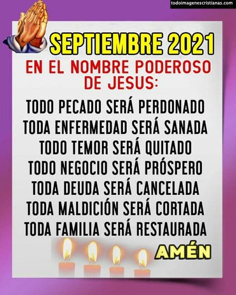 Frases cristianas mes de Septiembre