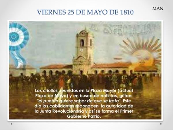 Imgenes del 25 de Mayo de 1810 El pueblo quiere saber