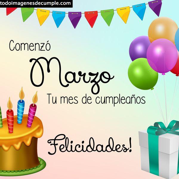 cumpleaños marzo