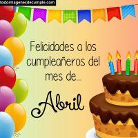 Imágenes de cumpleaños mes de ABRIL para descargar