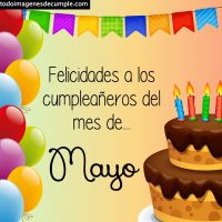 Imágenes de cumpleaños mes de Mayo para descargar gratis