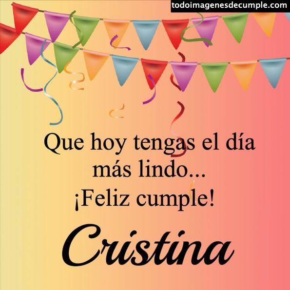 Feliz cumple cristina