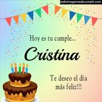 Imágenes de cumpleaños con nombre Cristina