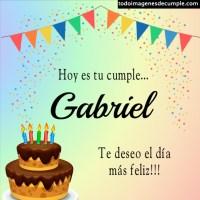 Imágenes de cumpleaños con nombre Gabriel