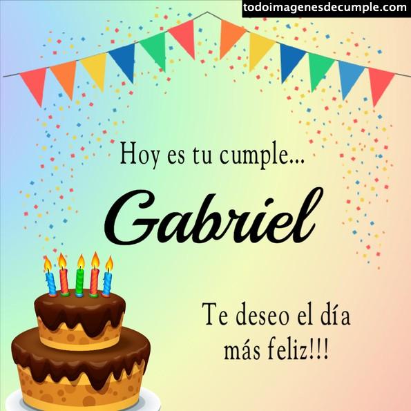 Feliz cumple Gabriel