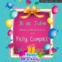 Imágenes de cumpleaños con los días de JULIO