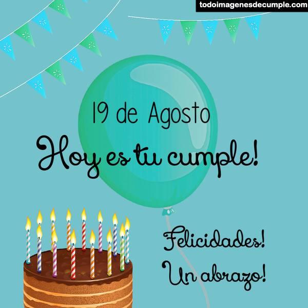 Imágenes de cumpleaños con los días de agosto