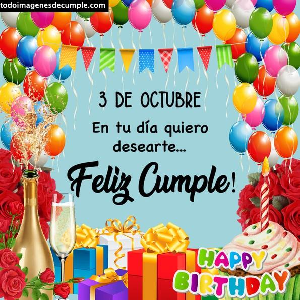 Imágenes de cumpleaños 3 de octubre