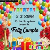 Imágenes de cumpleaños con todos los días de Octubre