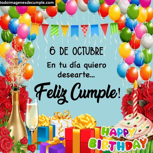 Imágenes de cumpleaños 6 de octubre