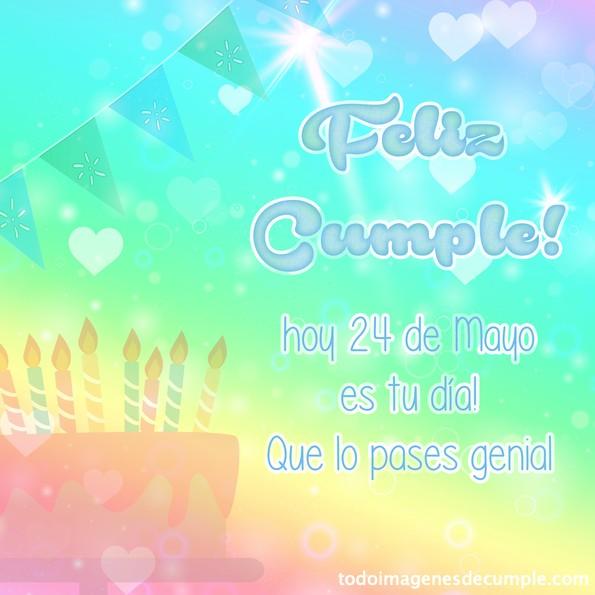 feliz cumpleaños 24 Mayo