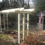 Build a sturdy arbor like this with the Makita hypoid saw.