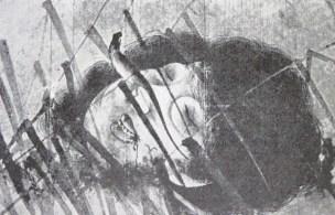 Head-just-severed figure...