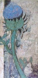 Demon thistle / 1933 / Oil, Crayon / 33x17cm