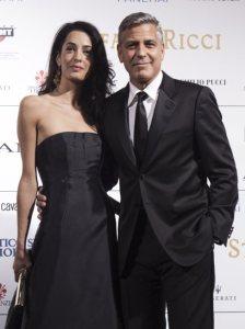 George Clooney y su futura esposa Amal Alamuddin