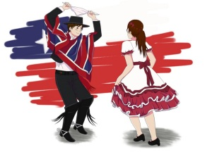 """Baile típico chileno, la """"Cueca"""""""