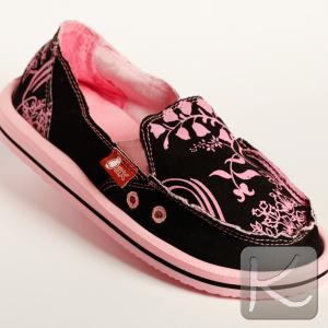 zapatillas de tela negro/rosa (alpargata WAX) Valor: $ 16.990