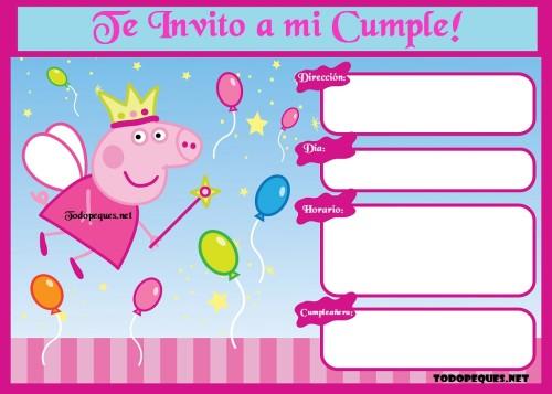 Invitaciones De George Y Peppa Pig Cumpleanos Todo Peques