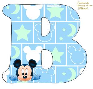 Mickey Baby alfabeto
