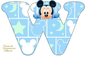Mickey Baby Letters