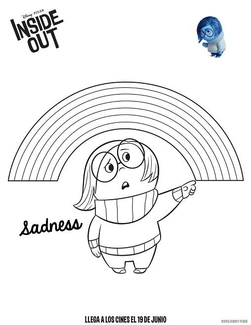 Dibujos de Intensamente tristeza para colorear
