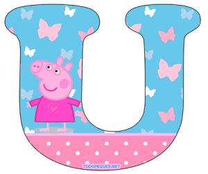 Peppa Pig letras para imprimir