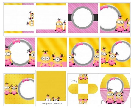 Kit de Minions Girl para imprimir y decorar