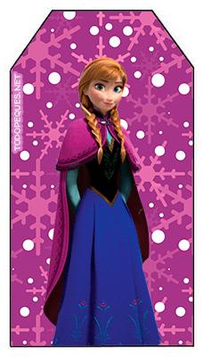 Marcadores de pagina Frozen imprimibles de Princesas