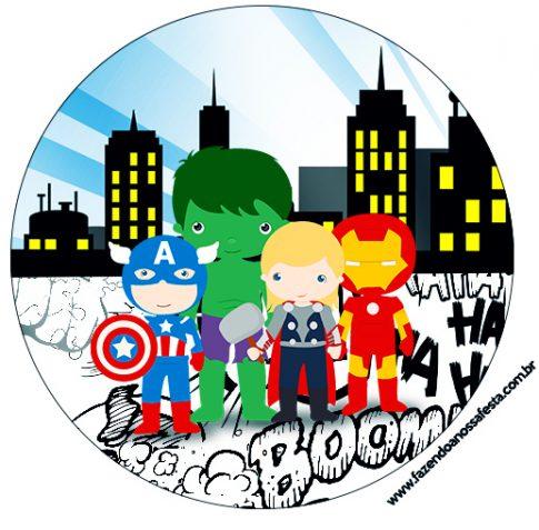 Kit Imprimible de Avengers dibujos Descarga Gratis