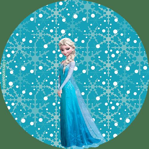 Candy Bar de Frozen para imprimir