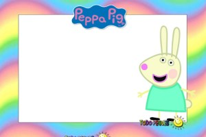 Etiquetas Stickers Peppa Pig y sus amigos Rebeca Rabbit .
