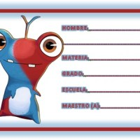 Etiquetas escolares de Bajoterra