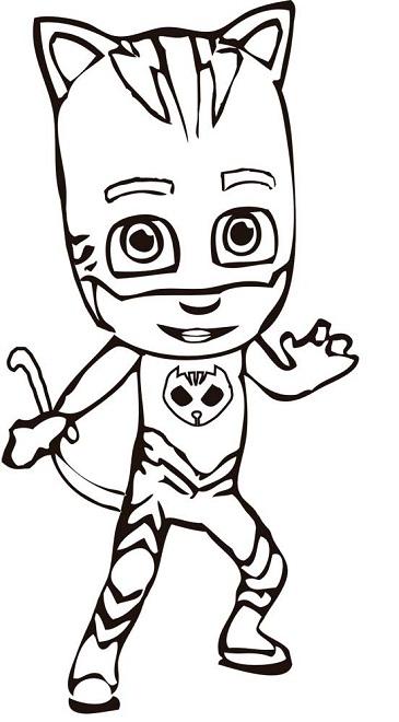 Dibujos Para Colorear Pjmasks Héroes En Pijamas Todo Peques