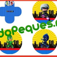 Decoración Pj Masks, Kit imprimible para descargar gratis