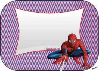 Stickers Hombre araña - Etiquetas hombre araña- Toppers hombre araña - Imprimibles gratis de hombre araña cumpleaños