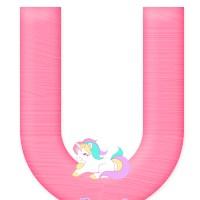 Letras con Unicornios Abecedario para descargar gratis
