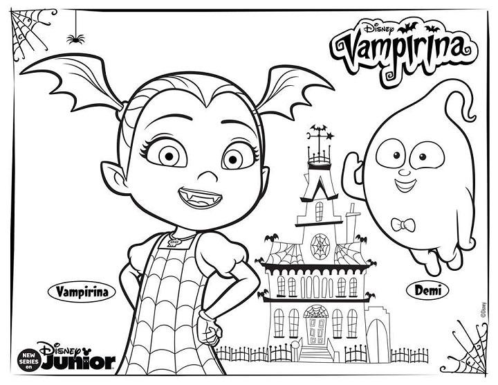 Dibujos Para Colorear Disney Gratis: Vampirina Dibujos Para Imprimir Y Colorear