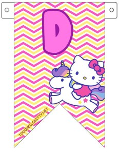 hello kitty banderines letras