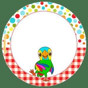 candy bar de la granja de zenon - loro pepe zenon stickers