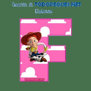 Abecedario Jessy Toy Story