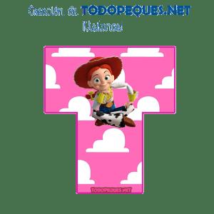 Alfabeto Toy Story nina Jessy Vaquerita