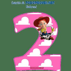 Numeros de Toy Story para imprimir