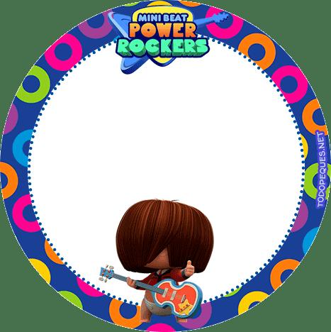 Mini Beat Power Rockers etiquetas stickers