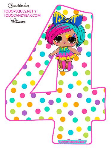 Numero 4 LOL SURPRISE 5 Serie Hairgoals Numbers