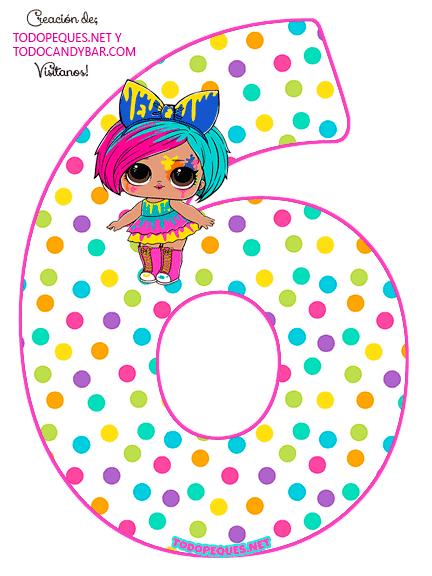 Numero 6 LOL SURPRISE 5 Serie Hairgoals Numbers