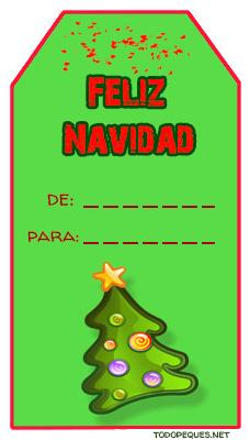 tarjetas para regalos de navidad